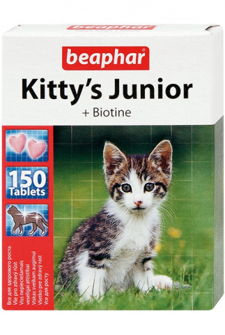 Витамины для котят Kitty`s Junior сердечки интернет-зоомагазин 24Pet